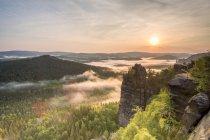 Montanhas de arenito do Elba — Fotografia de Stock