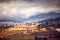 November misty morning in mountains — Stock Photo