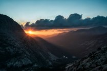 Mountain landscape in sunset light — Stock Photo