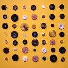 Still life of buttons on table — Stock Photo