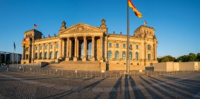 Berlin Reichstag building with sunset — Stock Photo