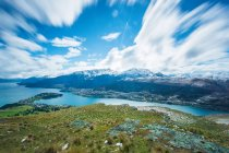 View of New Zealand lakeside nature — Stock Photo