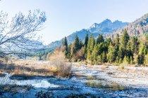 Landscape with mountains range — Stock Photo
