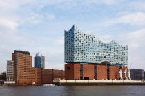 View of Elbe philharmonic hall, Hamburg, Germany — Stock Photo
