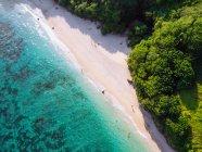 Paisagem de beira-mar com praia — Fotografia de Stock