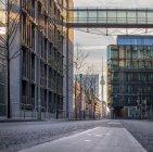 City street with Fernsehturm Berlin — Stock Photo
