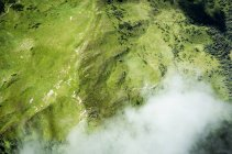 Scenery alps mountains, aerial view on earth — Stock Photo