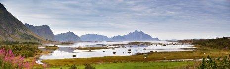 Природный ландшафт с вершины горы — стоковое фото