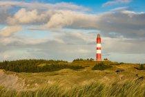 Phare sur l'île d'Amrum, en mer du Nord — Photo de stock