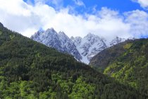 Landscape with Caucasus mountains — Stock Photo