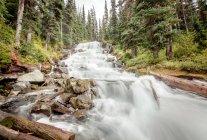 Landschaft mit Wasserfall-Ansicht — Stockfoto