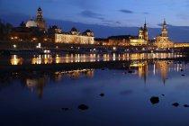 Historical cityscape of Dresden — Stock Photo