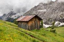 Старий дерев'яний сарай — стокове фото