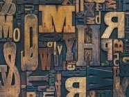 Vintage wood letterpress type — Stock Photo