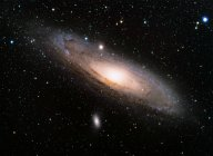 Мерцающих звезд в ночном небе и светлый Млечный путь — стоковое фото