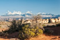 Observing view of mountain range landscape — Stock Photo