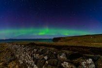 Nordlicht-Anzeige im Himmel — Stockfoto