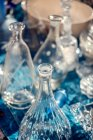 Empty glass bottles at flea market — Stock Photo