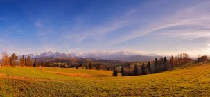 Panorama of snowy Tatra mountains in spring — Stock Photo