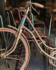 Cropped image of vintage bicycle — Stock Photo
