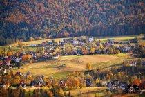 Malopolska mountain village — Stock Photo