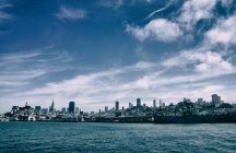 Skyline cênica do San Francisco metrópole, Califórnia, EUA — Fotografia de Stock