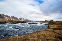 Paysage d'Islande avec vue sur le fleuve — Photo de stock