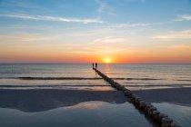 Seashore landscape with beach — Stock Photo