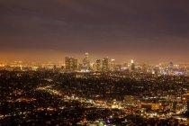 Прекрасний вид на освітлену нічного міста, Лос-Анджелес — стокове фото
