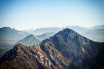 Scenic view of snow capped mountains ranges — Stock Photo