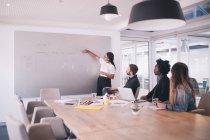 Gruppe junger Erwachsener Menschen in Business-Meeting mit Vortrag — Stockfoto