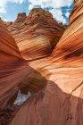 Абстрактный взгляд на киноварь скалы Национальный Каньон — стоковое фото