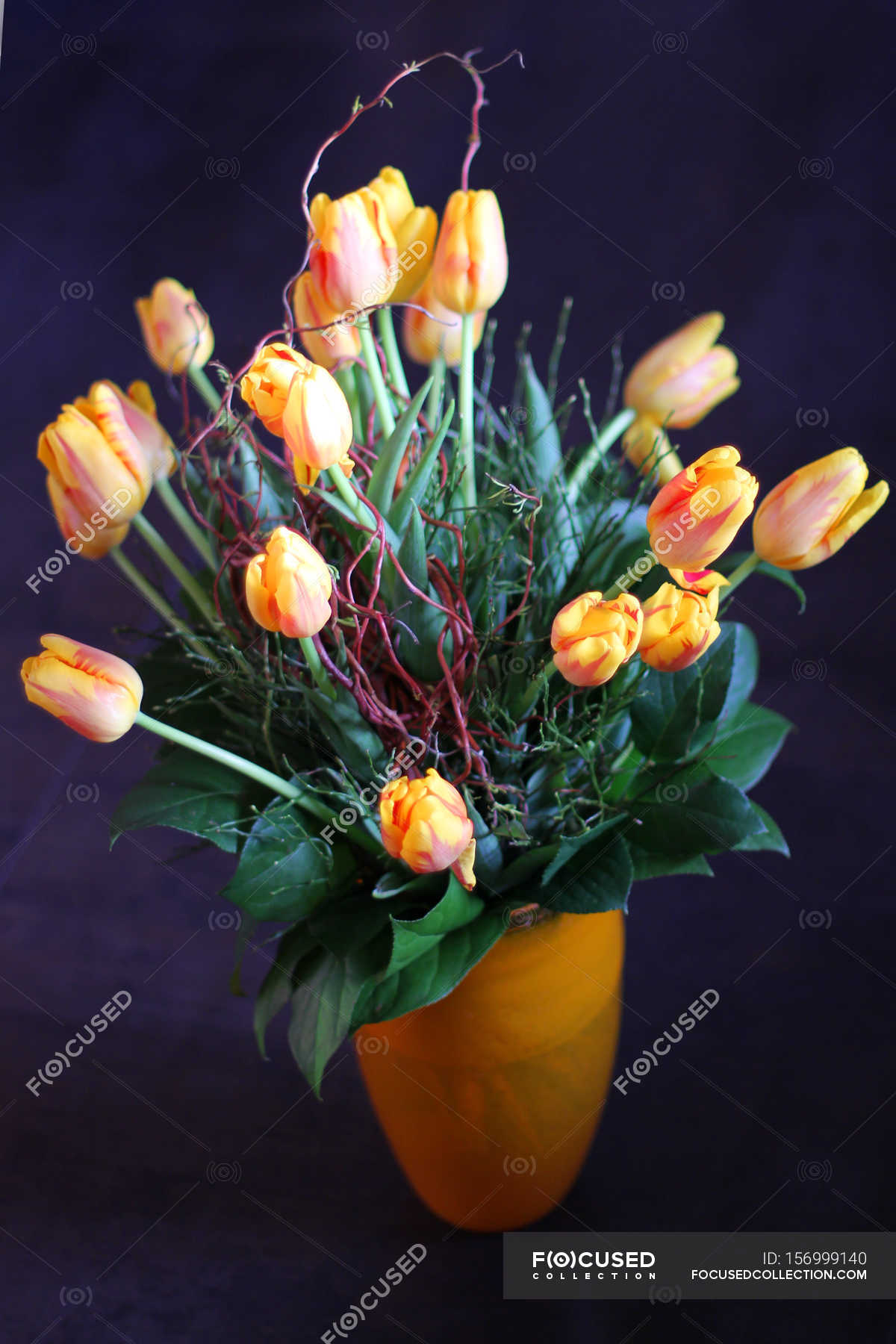 Bouquet Of Beautiful Tulip Flowers Stock Photo 156999140
