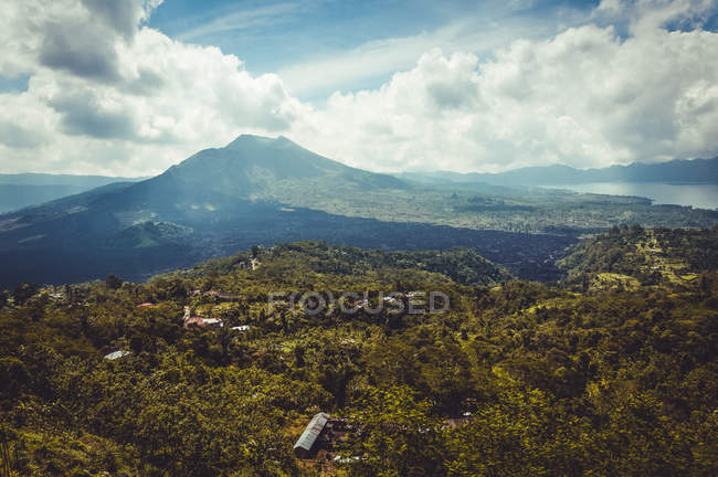 Landscape with volcano mount — Stock Photo