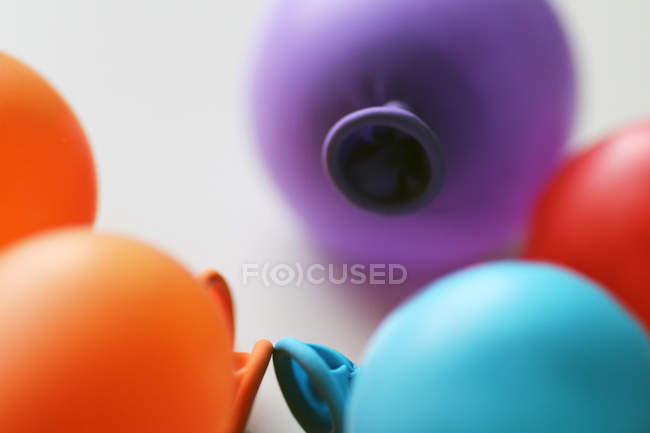 Colorful air balloons closeup view — Stock Photo