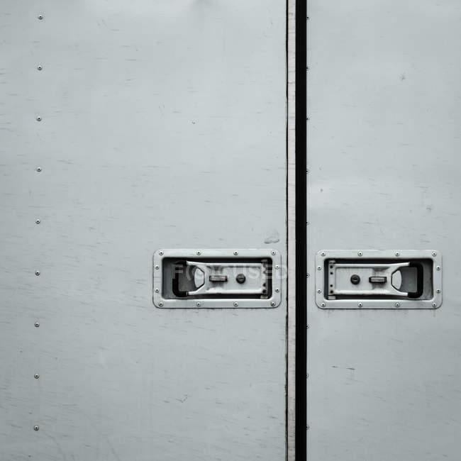 Metal gray car door — Stock Photo