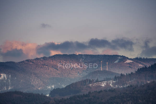 Wind mills  in the Mountain area — Stock Photo