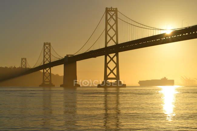 Vista da construção da ponte — Fotografia de Stock