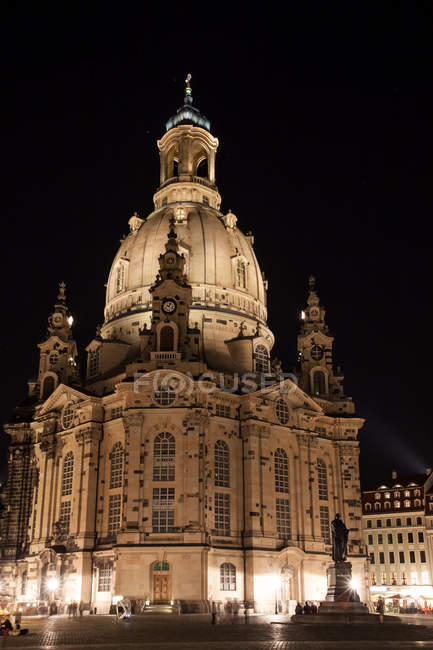 View of Dresden Frauenkirche — Stock Photo