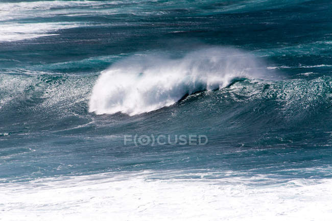 Scenic view of sea water surface and rolling wave — Stock Photo