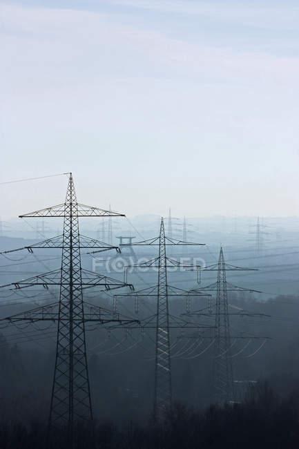 Мощность линии просмотра — стоковое фото
