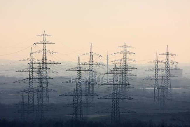 Mostra linee elettriche — Foto stock