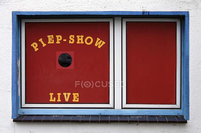 Vista Di Giorno Di Edificio Windows Con Piep Show Dal Vivo Parole