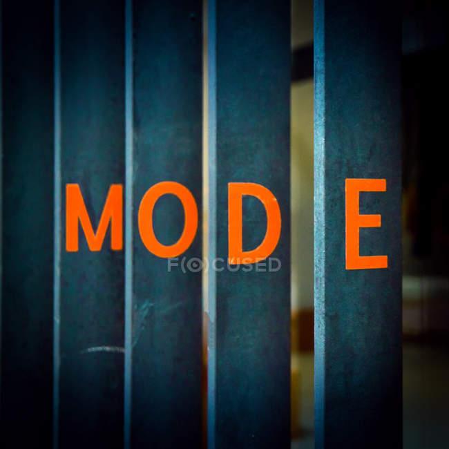 Calligraphic advertising, lettering headline mode — Stock Photo