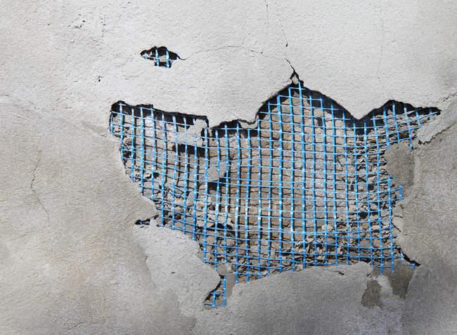 Nahaufnahme der rissige Wand — Stockfoto