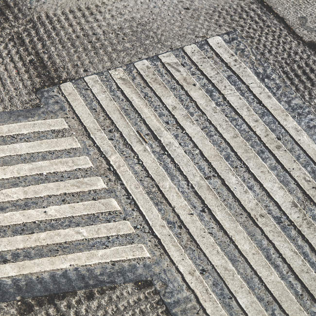 Floor covering with lines shapes — Stock Photo