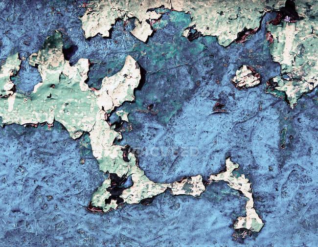 Проблемных голубой стене структура — стоковое фото