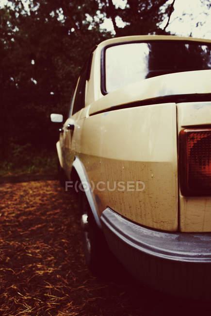 Primer plano de detalles de coche retro, vista trasera - foto de stock