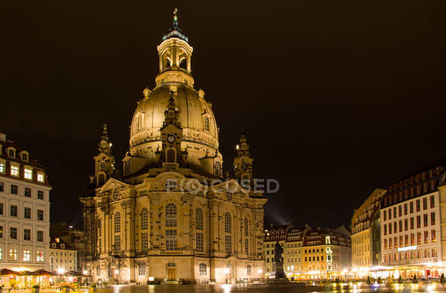 Перегляд Дрездена, Фрауенкірхе — стокове фото