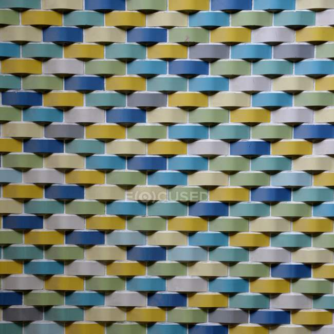Close-up view of colorful bricks pattern — Stock Photo